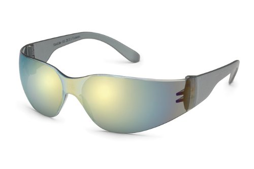 Gateway Safety 467M UL-Certified StarLite Safety Glasses, Gold Mirror Lens, Gray Temple (Pack of 10)