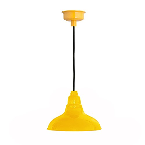 12'' Dahlia LED Pendant Light in Yellow by Cocoweb
