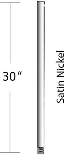 Satin Nickel Maxim FRD0130SN Solstice 30 Downrod