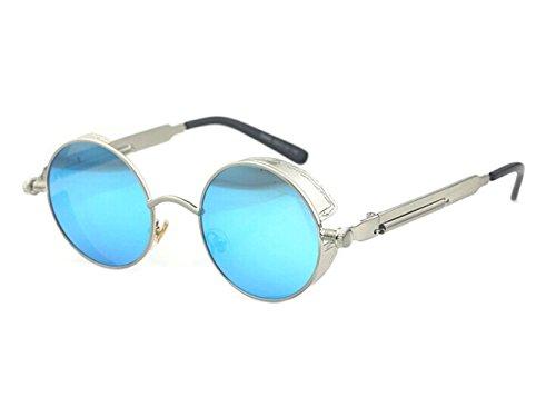 (Arctic Star Steam Punk, Gothic, Retro Pattern Edging, Antique Glasses Round Frame Sunglasses.)