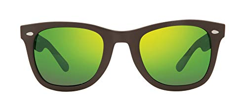Revo Polarized Sunglasses Forge x Bear Grylls Wayfarer Frame 50 mm, Matte Brown, Green Water