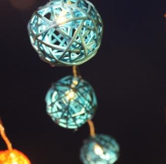 Powered Rattan Garden Lantern String product image
