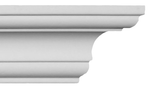 Crown Molding - Plastic Crown Moulding Manufactured with a Dense Architectural Polyurethane Compound. CM-1092 - 6 Moldings.