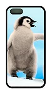 Animal Emperor Penguins Snowhill DIY Rubber Black iphone 5/5s Case Perfect By Custom Service