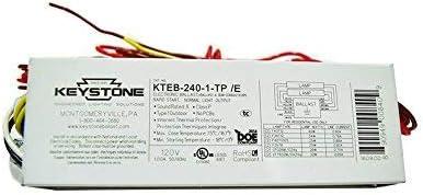 1-PACK RAPID START 120V Keystone Electronic Universal Ballast Model: KTEB-240-1-TP //B UL LISTED 1 OR 2 LAMP 1.00A 50//60 Hz