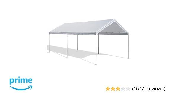 Amazon.com: Caravan Canopy 10 X 20-Feet Domain Carport, White ...