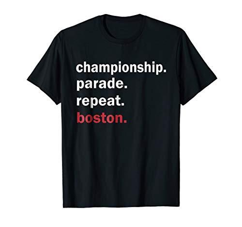 (Championship Parade Repeat Boston Shirt Funny T-Shirt)