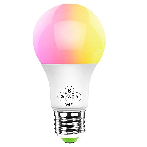 Smart Bulb by HaoDeng LED WiFi Light -Timer & Sunrise & Sunset - Dimmable,Multicolor,Warm White - 40w Equivalent E27,No Hub Required,Compatible with Alexa,Google Home Assistant and IFTTT(New)