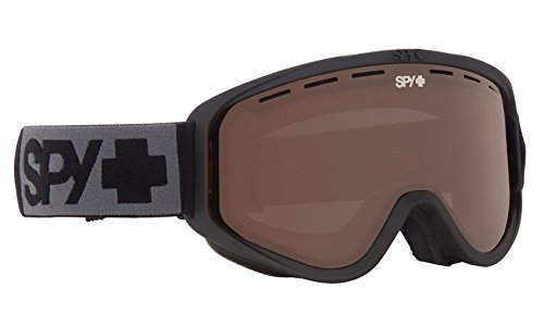 SPY Optic Woot Snow Goggles | Small Medium Sized Ski, Snowboard or Snowmobile Goggle | Clean Design and All Day Comfort | Scoop Vent Tech | Matte Black (Small Snowmobiles Accessories)
