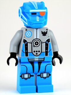 Lego Galaxy Squad Blue Robot Sidekick Minifigure