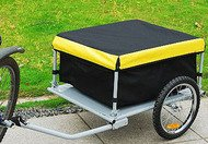 Lowest Prices! Aosom Elite Bike Cargo / Luggage Trailer - Yellow / Black