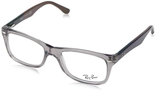 Ray-Ban RX5228 Square Eyeglass Frames, Grey/Demo Lens, 53 ()