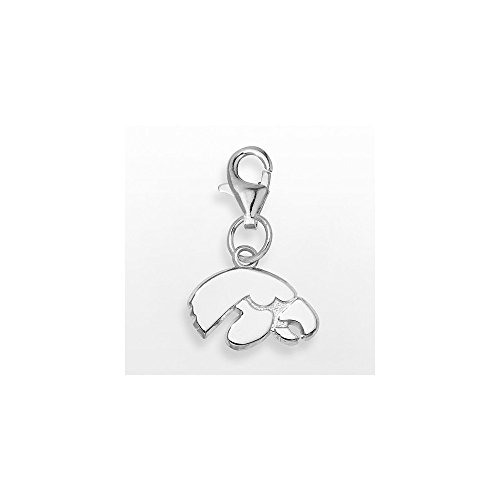 Solid 925 Sterling Silver University of Iowa Tiger Hawk 3/8 ON Lobster Claw (0.4mm)