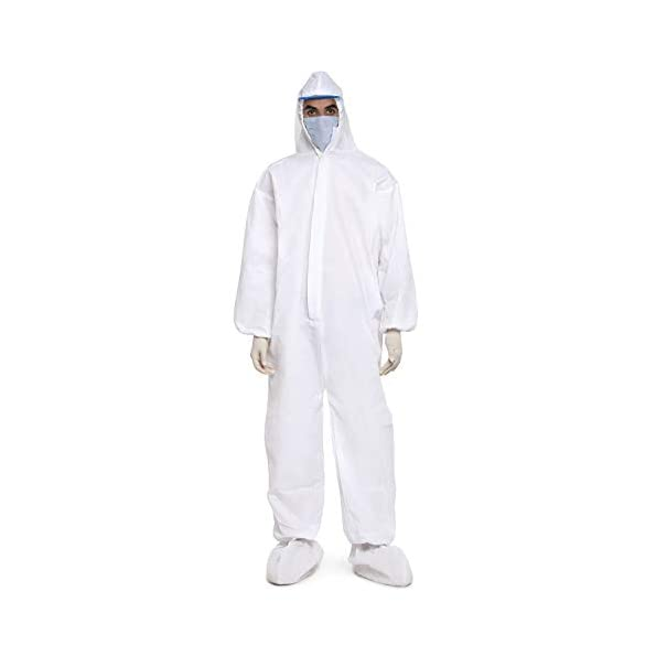 BUkkL-PPE-Safety-Kit-for-Full-Body-Protection-Non-Suffocating-Non-Water-Permeable-Comfortable-for-Travelling-Reusable-Disposable-Non-Woven-Polyproplyene-95-GSM-1-Pc-White