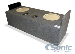 """Bbox A132-12CP Dual 12"""" Sealed Carpeted Subwoofer Enclosure - Fits 1982-2004 Chevrolet/GMC S10 / S12 / Sonoma Extended Cab"""