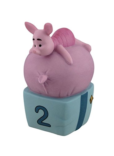 "Disney Pooh & Friends Piglet ""TWO is for growing fast and faster"" 2 Year Old Collectible Porcelain Figurine"