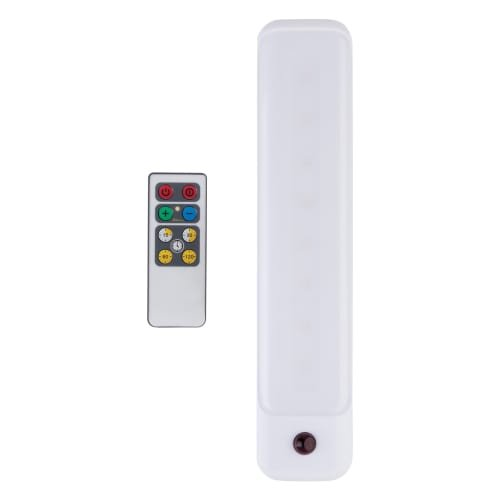 "10"" LED Under Cabinet Edge IR Remote, 3000K Soft , Strip Light, White - Globe Electric 26048"