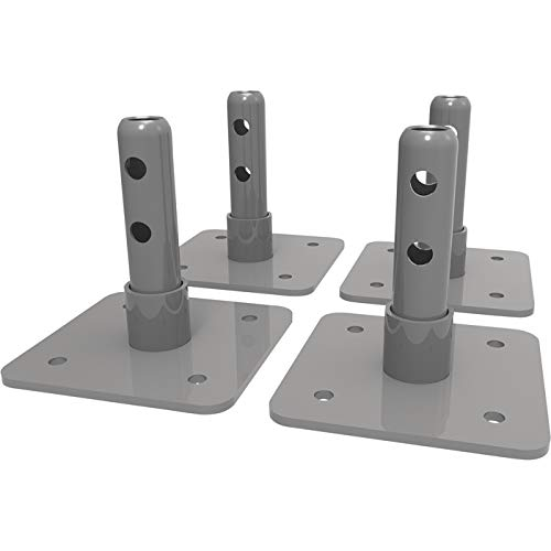 Metaltech Base Plates for Baker Interior Fixed Scaffolds — Set of 4, Model# I-IBBF4