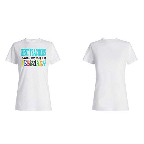 BESTE LEHRER SIND IN FEBRUAR LUSTIG GEBOREN Damen T-shirt v55f