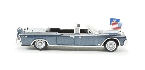 Oxford Diecast 87LC61001 Lincoln Continental X-100 Presidential Kennedy Limousine 1961 Presidential Blue Metallic ()