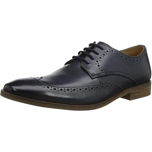 chollos oferta descuentos barato Clarks Stanford Limit Zapatos de Cordones Derby Azul Navy Leather Navy Leather 43 EU
