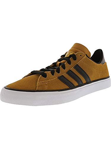 adidas Men's Campus Vulc Ii Mesa/Core Black Footwear White Ankle-High Suede Skateboarding Shoe - 12M
