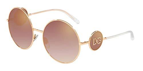 Dolce & Gabbana Women's Sicilian Sweet Round Sunglasses, Pink Gold/Gradient Pink Mirror, One ()