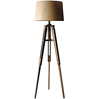 Amazon Creative Mariner Wood Tripod Floor Lamp Shade Height Home Amp Kitchen