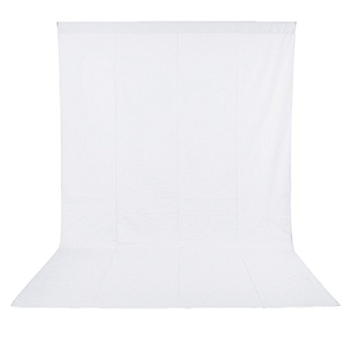 Neewer 10 x 20FT / 3 x 6M PRO Photo Studio 100% Pure Muslin Collapsible Backdrop Background for Photography,Video and Televison (Background ONLY) - White