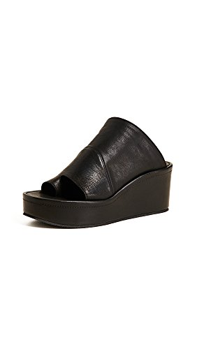 Platforms Leather Lambskin (LD Tuttle Women's The After Platform Slides, Black, 38 M EU)