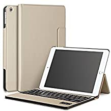 Galaxy Tab S4 10.5 Keyboard case, KuGi Ultra-Thin Detachable Wireless Keyboard Stand Portfolio Case/Cover for Samsung Galaxy Tab S4 10.5 Tablet(10.5 inch) (Gold)