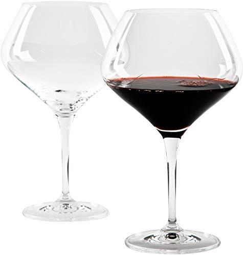 Home Essentials Bohemia Amoroso 16 Ounces Red Wine Balloon Stemware Set of -