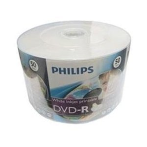Philips 200 16X DVD-R 4.7GB White Inkjet Hub Printable (Shrink Wrap)
