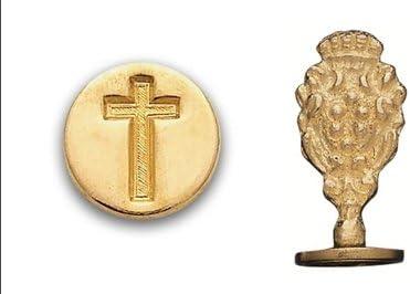 Brass Wax Seal Stamp Cross 821H