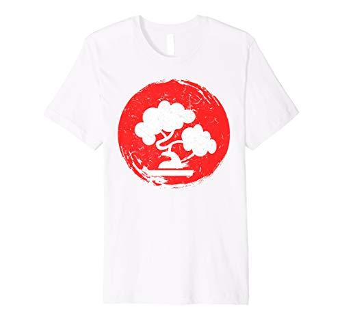 Japanese Bonsai Tree Red Sun Karate Shirt Gift ()
