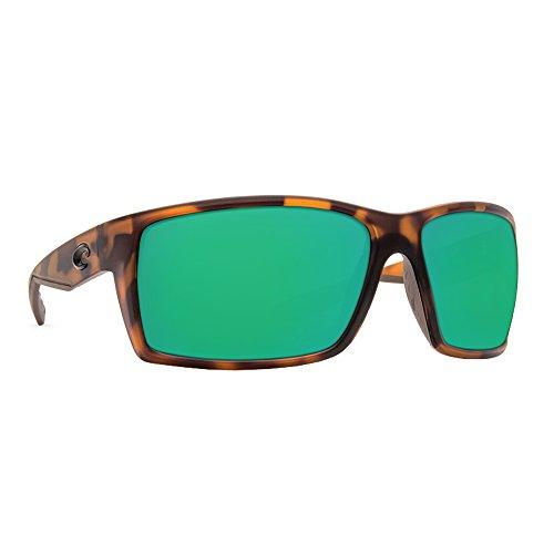 Costa Del Mar Men's Reefton Sunglasses (Retro Tortoise,Green - Reefton Costa Sunglasses