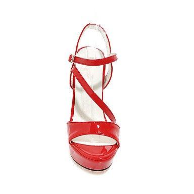 LvYuan Mujer-Tacón Stiletto-Zapatos del club-Sandalias-Boda Vestido Fiesta y Noche-PU-Negro Rojo Blanco Plata Oro Black
