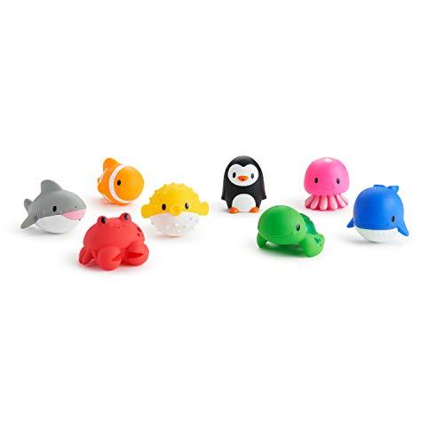 Munchkin Ocean Squirts Bath Toy, 8 (Sea Creatures Bath Toys)