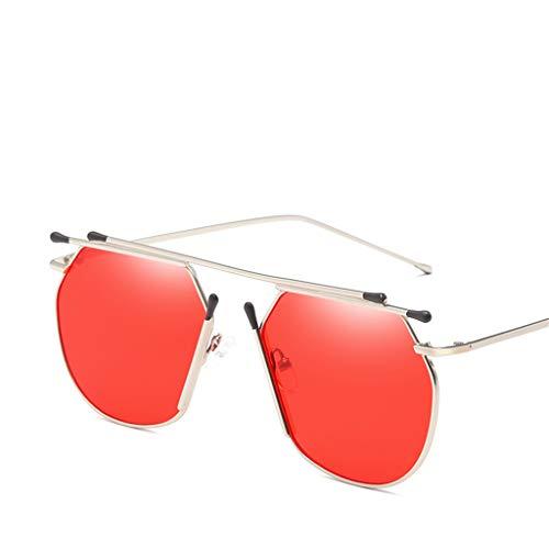 en Nouvelles Ocean Red Lunettes Ladies de Movies métal Soleil Sunglasses Fashion décoratives WI1dIOqr