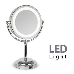 Vanity Mirror With Lights All Round : BRAND NEW Round Magnifying LED Illuminated Bathroom Make Up Cosmetic Shaving Vanity Mirror ...