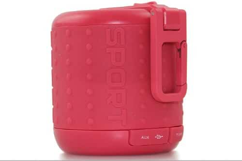 DOSS HURRICANE 3 DS-1208 Bluetooth Speaker Buckle Handsfree TF AUX 5 Colours-Red