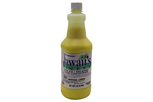 California Concessions Corp Gold Medal-Hawaii's Finest/SNO-Kone Concentrate - Lemon 1 qt (1 Count)
