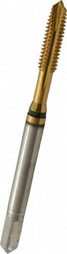 (GUHRING 9039160035050 Spiral Point Tap, Plug, Cobalt, TiN Coating, 3 Flute, #6-32 Size)