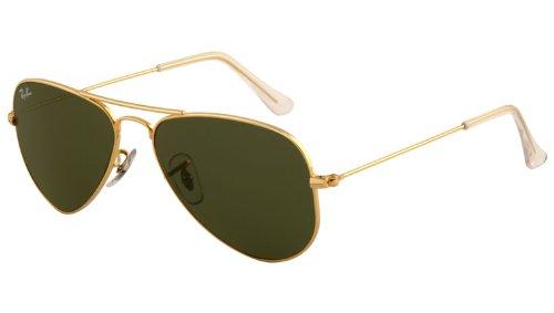 (Ray-Ban RB3044 L0205 Aviator Classic Non-Polarized Sunglasses, Arista/Crystal Green, 52 mm)