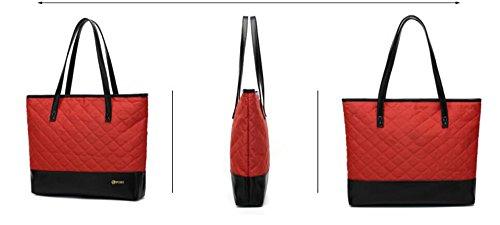 Fourre Pouce Ordinateur Léger 14 Lady Bureau Satchel Cartable Femmes Portable Business Sac Handle Designer Tout Élégant Red PINCHU Top Porte wB8XIy