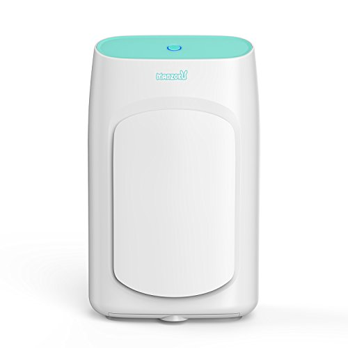 MANZOKU Dehumidifier Electric Mini Dehumidifiers for Home Basements Bathroom RV Closet 2200 Cubic Feet 269 sq.ft Large 2L Tank Portable Dehumidifier