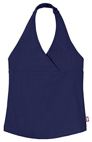 City Threads Little Girls Tankini Swimsuit for Girls Toddler Bathing Suit Rash Guard Halter Top for Beach Pool Swimwear, Navy, 6