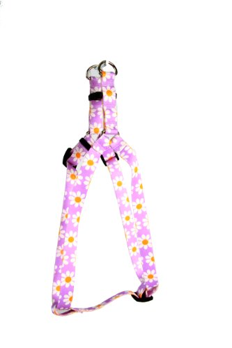 - Yellow Dog Design Step-In Harness, Medium, Lavender Daisy