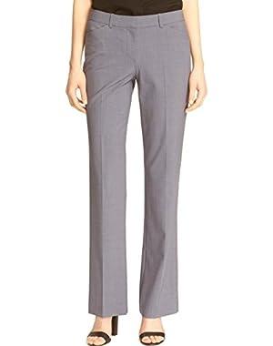 Denim Melange Women's Stretch Dress Pants Gray 8