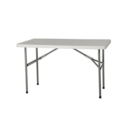 4' Plastic Development Group Deluxe Blow Molded Utility Table